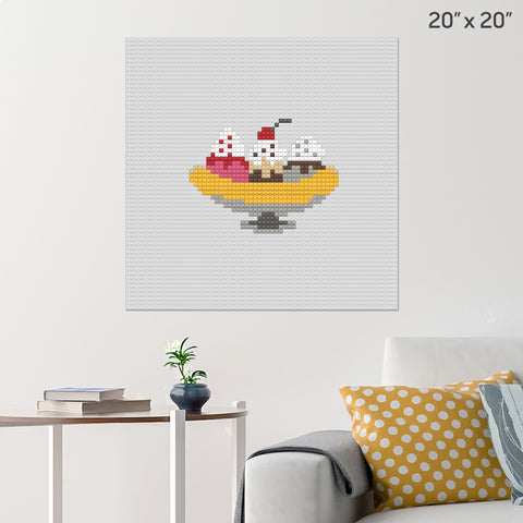 Banana Split Brick Poster