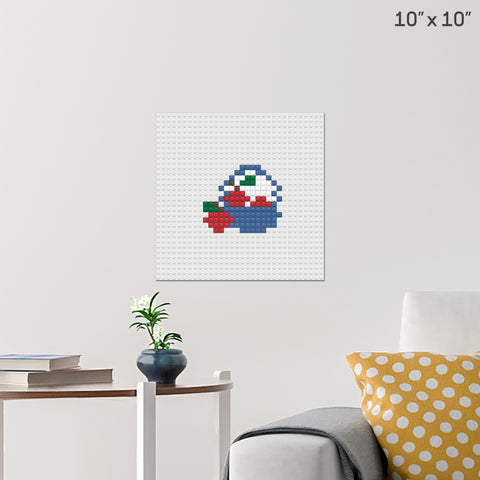 Basket of Fruits Brick Poster
