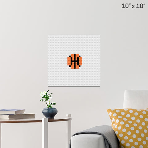 Basketball Brick Poster