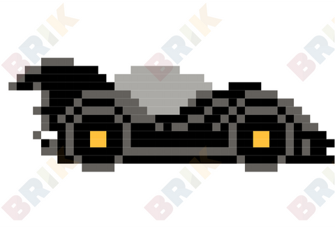 Batmobile Pixel Art