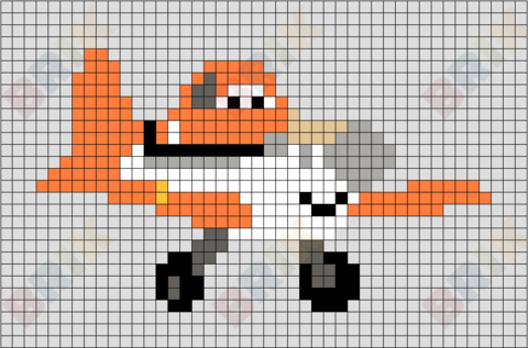Dusty Crophopper Pixel Art
