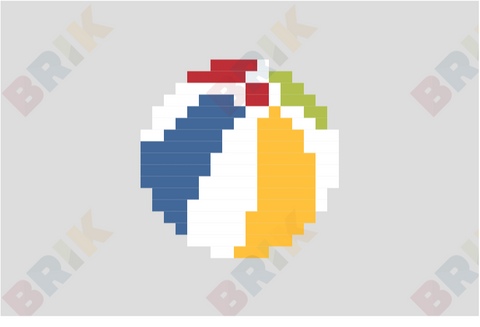 Beach Ball Pixel Art