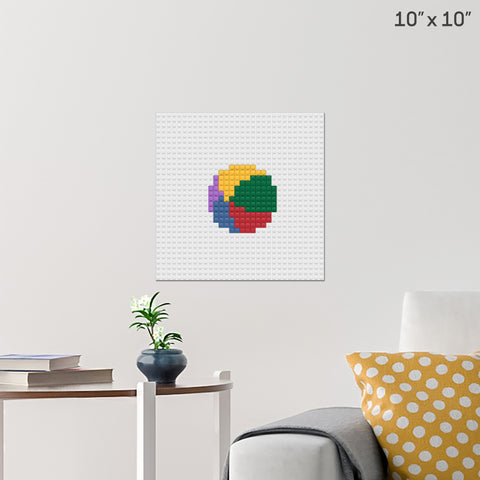 Beach Ball Brick Poster