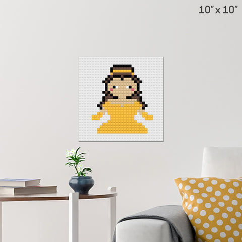 Beauty and the Beast Belle Brick Poster