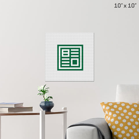 BEED Ltd. Brick Poster