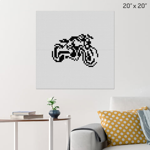 Big Bike Brick Poster