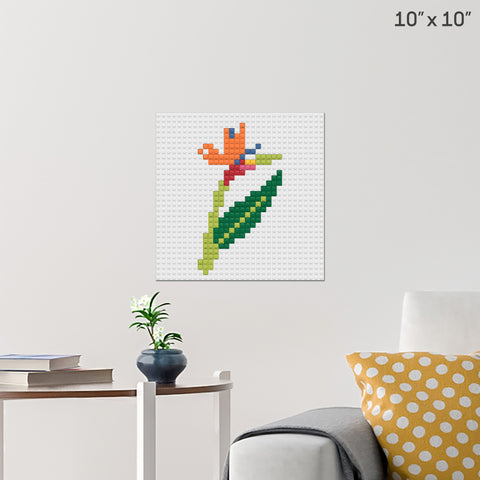 Birds of Paradise Brick Poster
