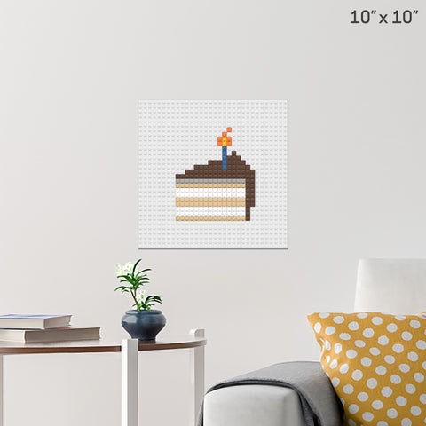 Birthday Cake Brick Poster