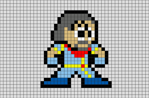 Bishop Superhero Pixel Art
