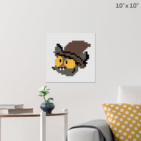 Black Cat Brick Poster