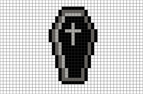 Black Coffin Pixel Art