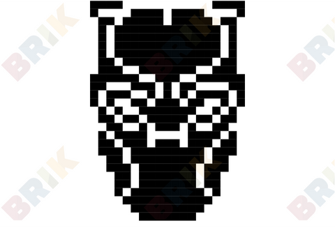Black Panther Pixel Art