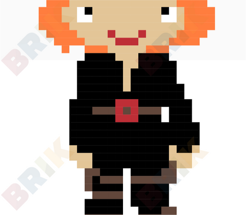 Black Widow Pixel Art
