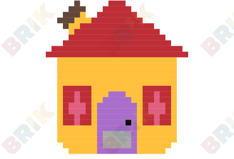 Blue's House Pixel Art