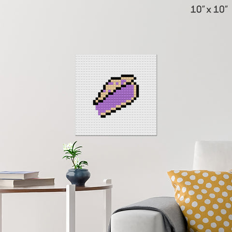 Blueberry Pie Brick Poster
