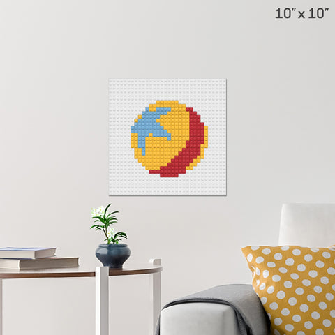 Blue's Ball Brick Poster