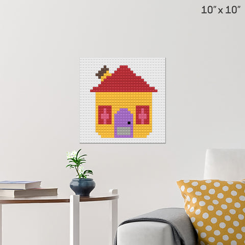 Blue's House Brick Poster