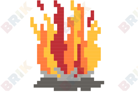Bonfire Night Pixel Art