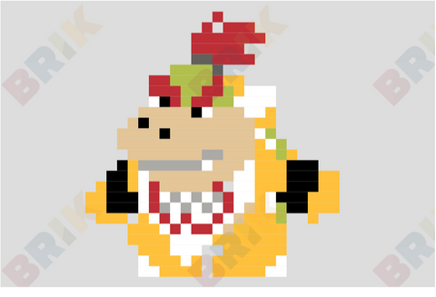 Bowser Jr. Pixel Art