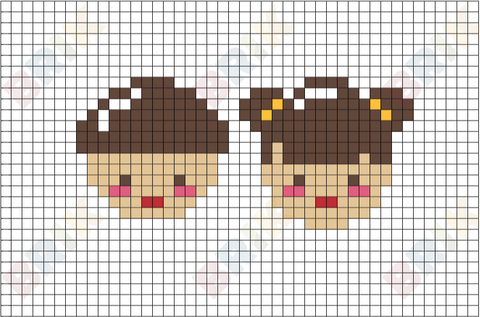 Boy and Girl Pixel Art