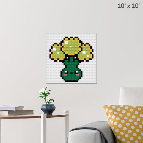 Broccoli Brick Poster