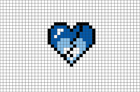 Broken Heart Pixel Art