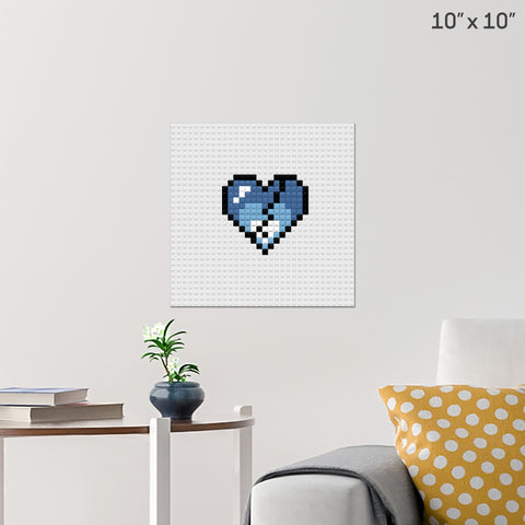 Broken Heart Brick Poster
