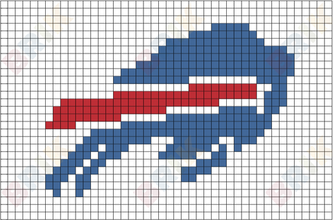Buffalo Bills Pixel Art