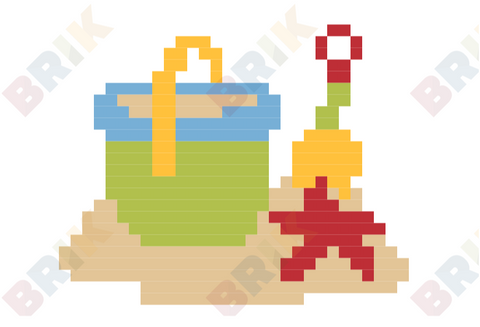 Build A Sandcastle Pixel Art