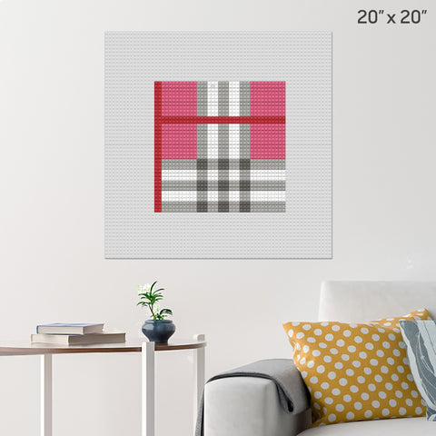 Burberry pattern Brick Poster