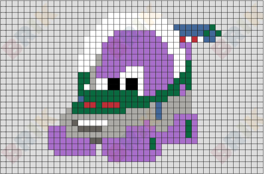 Buzz Light Car Pixel Art Brik