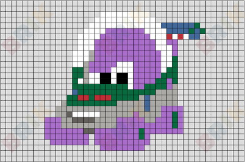 Buzz Light Car Pixel Art