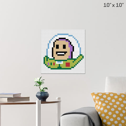 Buzz Lightyear Brick Poster