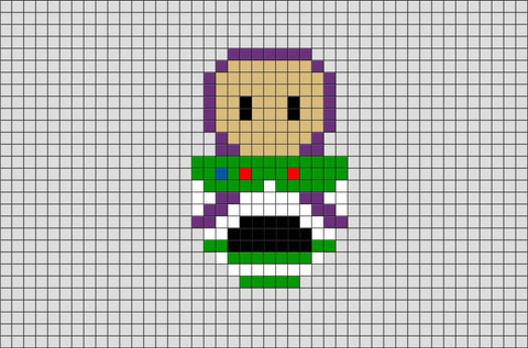 Buzz Toy Story Pixel Art
