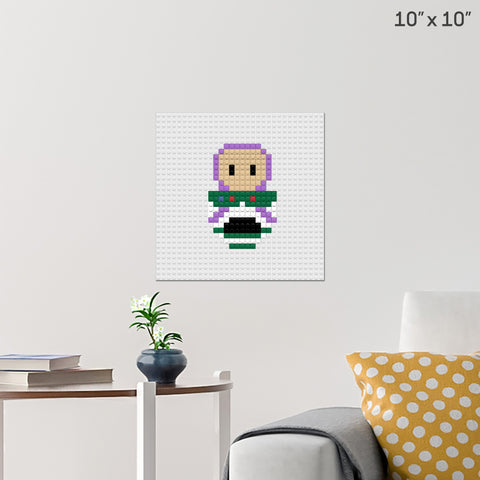 Buzz Toy Story Brick Poster