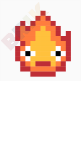 Calcifer Pixel Art