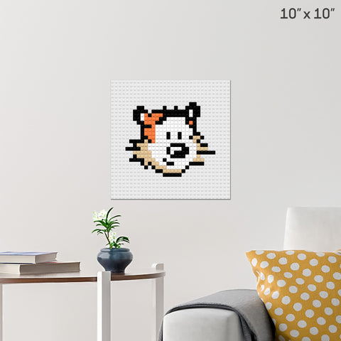 Calvin and Hobbes Brick Poster