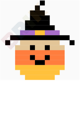Candy Corn Pixel Art