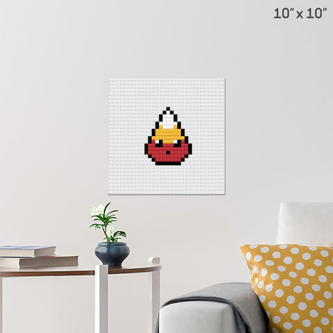Candy Corn Brick Poster