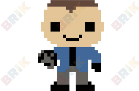 Captain Cold Pixel Art