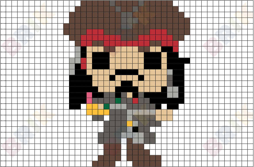 Captain Jack Sparrow Pixel Art Brik
