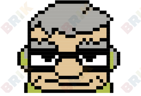 Carl Fredricksen Pixel Art
