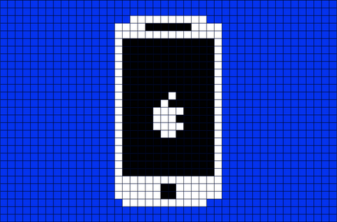 Cell Phone Pixel Art