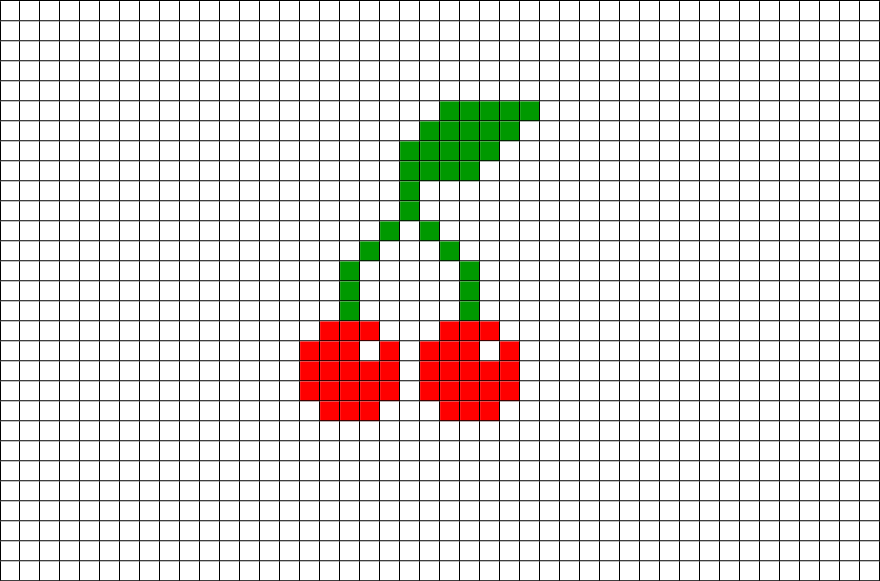 Pixel Art Facile Kawaii Fruit