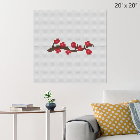 Cherry Blossoms Brick Poster