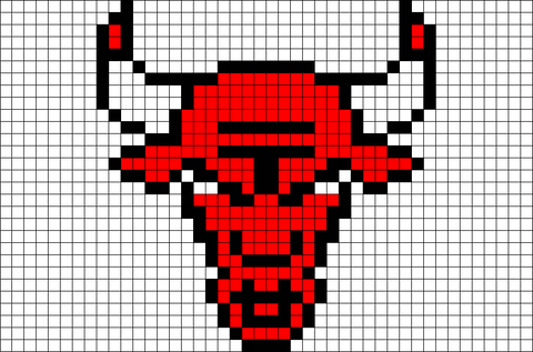 Chicago Bulls Pixel Art
