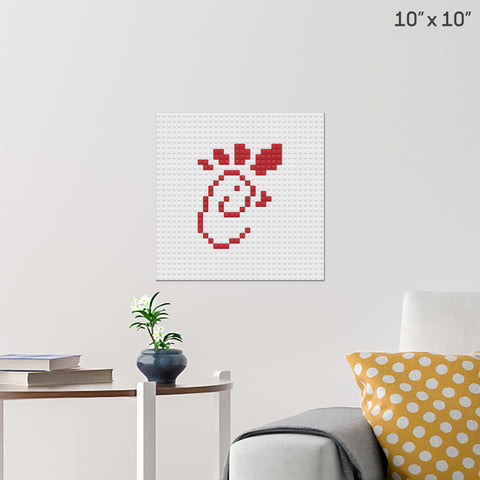 Chick-Fil-A Brick Poster