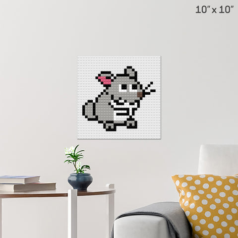 Chinchilla Brick Poster