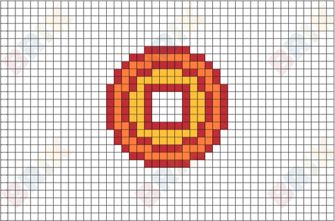 Chinese Coin Pixel Art