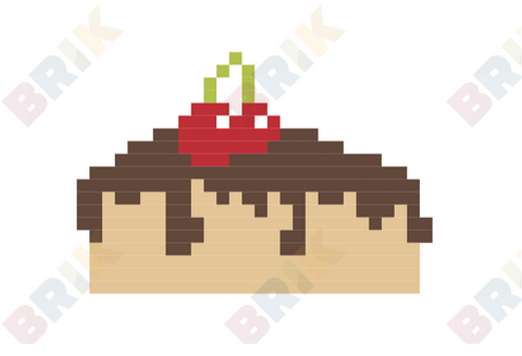 Chocolate Cake Pixel Art